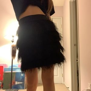 1920s inspired feather layered skirt
